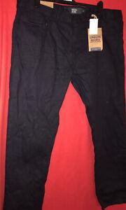 1.... Mens Union blues black Jeans size W44  (L31)