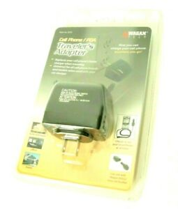 Traveler's Cell Phone Adapter ~ Round car adapter to 2 prong Wagan DC Socket ~