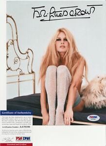 Brigitte Bardot Sexy Actress Signed Autograph 8x10 Photo PSA/DNA COA #2