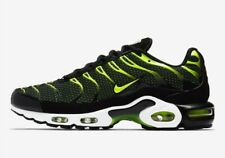 Nike Men's Air Max Plus 852630-036 Black and Volt Running Shoes Size 10