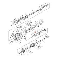HARLEY-DAVIDSON GETRIEBE VORGELEGEWELLE SCHEIBE GETRIEBE ENDE 41-86 BT BC17943 T