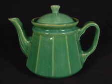 RARE HULL GREEN GLAZE TEAPOT YELLOW WARE MINT