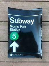 NY City Transit Morris Park Station Sticker Sign 5 Train Bronx Subway
