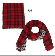New Women Reversible Plaid oblong Blanket Scarf HOUNDSTOOTH Wrap Shawl Soft