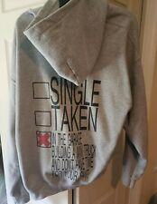 In The Garage building a mini truck lowered Grey Pull Over Hoodie size XL