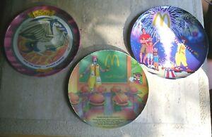McDonalds Plates Lot '89 Hamburger University, 2006 4th July, + Disney Hercules
