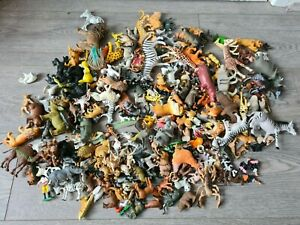 Large Bundle Of Animal Figures Toys Farm And Zoo Animals Joblot Over 250 Pieces