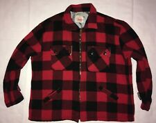 Vintage Big Mike Red Black Full Zip Wool Buffalo Macinaw Plaid Jacket Xl