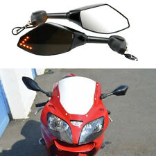LED Turn Signal Mirror For Kawasaki Ninja 500 1994-2008 ZX6R ZX6RR 1998-2004 US