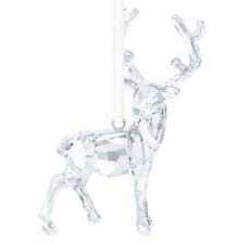 NIB $89 Swarovski CHRISTMAS STAG Ornament Reindeer Clear Crystal #5135847
