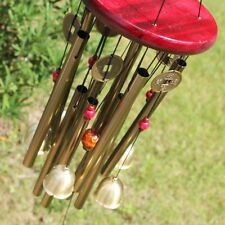 Large Wind Chime Yard Garden Bells Pavilion Copper Coin Outdoor Living Decor