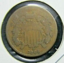 1864 U.S. TWO CENT PIECE - LOWER GRADE - FREE SHIPPING!!!