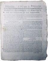 Cayenne en 1795 Guyane Hussenet Thomas Payne USA Pont de Buis Surinam Quiberon