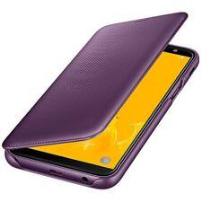 Original Samsung Flip Wallet Case Cover EF-WJ600 Galaxy J6 2018 Edition Purple