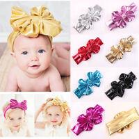 Fashion Bowknot Design Elasticity Wash Gold Baby Girl Headband Hair Accessory