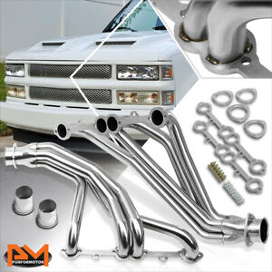 For 84-91 Chevy GMT C/K 5.0L/5.7L Stainless Steel 8-2 Long Tube Exhaust Header
