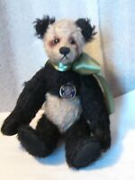 "Knicerbocker Germany Panda bear 10"" Mohair fully jointed Vintage 90"" PRISTINE"
