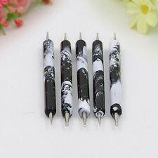 Beauty Black Fancy Porcelain Style Nail Art Tools Nail Design Set Dotting Pens
