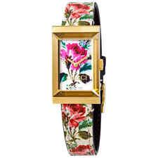 Gucci G-Marco Marfil Con Motivo Floral Cuadrante Reloj de Señoras YA147406 33fc5065454