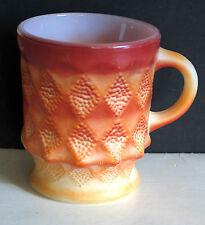 Fire King Mug Kimberley Red Vintage good shape FREE SH