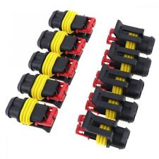 10Pcs 2Pin Way AMP 12V Electrical Wire Connector Plug Cable Waterproof Car ATV
