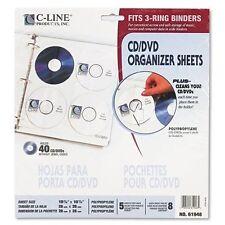 C Line Deluxe Cd Ring Binder Storage 8 Cddvd Capacity 3 X Holes