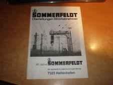 Sommerfeldt catalogue 1988     Language: german, english & french   Katalog 1988