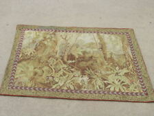 Antique Needlepoint Tapestry of Monkies in Jungle 36x48 inches