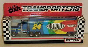 Jeff Gordon #24 Dupont 'Rookie' 1993 1/87 Matchbox Super Star Team Transporter.