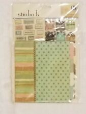 K&Company STUDIO K 6x6 MINI Scrapbook File Folder Book Kit NEW