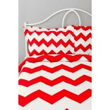 Urban Outfitter Red Zigzag Set of 2 Shams Standard Size