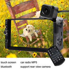 """7"""" Inch Car MP5 MP3 Player Bluetooth Touch Screen Stereo Radio HD Remote+Camera"""