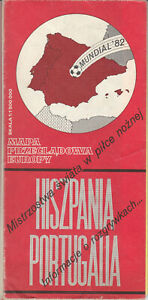 Spain - Portugal, Mundial Espana 1982 occasional map issued on Mundial