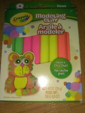 Crayola Modeling Clay 8 colors Non toxic Sticks NEON Colors