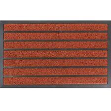 Stylish Stripes Dirt Stopper Barrier Heavy Duty Pro Scraper Door Floor Mat Red