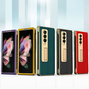 Phone Case Protective Cover w/ Stand Case for Samsung Galaxy Z Fold 3 5G Mobile