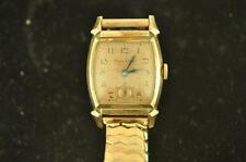 VINTAGE MENS BULOVA ROSE GOLD FILLED WRISTWATCH CALIBER 10BS FOR REPAIR
