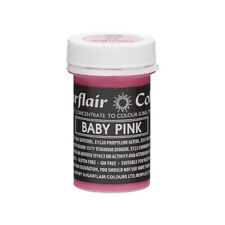 Sugarflair BABY PINK Pastel Paste Gel Edible Concentrated Food Icing Colouring