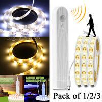 Wireless PIR Motion Sensor LED Strip Lights Bed Cabinet Closet Stairs Night Lamp