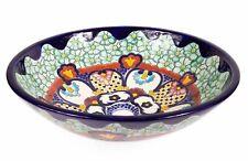 Umywalka kulista ceramiczna nablatowa z Meksyku z kolorowym motywem - Juanetta