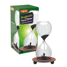 MAGNETIC SAND TIMER - SC269 CLOCK HOUR GLASS HOME DESK DECORATION REVERSIBLE