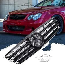 FRONT BLACK-GLOSS GRILL FOR MERCEDES CLASS-C W203 S203 AMG LOOK SPOILER 203071-G