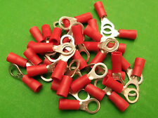 Rosso 4 mm Foro Anello Terminale 4.3 MM a crimpare parte isolati KV104/50 PKT 50pcs ono