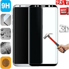 9H Hardness 3D Full Curved Tempered Glass Screen Film For Samsung S8 / S8 plus