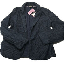 Nanette Lepore costal blue eyelet blazer jacket small new