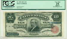 Rare 1891 FR.#299 $10 Silver Certificate PCGS Rated VF 25 Ten Dollars Circulated