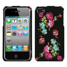 Blooming Flowers HARD Protector Case Snap On Phone Cover for Apple iPhone 4 4S