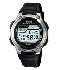 Casio Men's Sport Digital Black Resin Band, 50 Meter, 5 Alarms, W212H-1AV