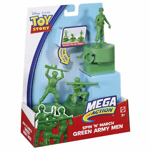 DISNEY TOY STORY SPIN N MARCH GREEN ARMY MEN *NEW*