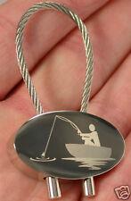 Angler Schlüsselanhänger Angelsport Gravur Keyring